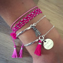 Fuschia and silver combination
