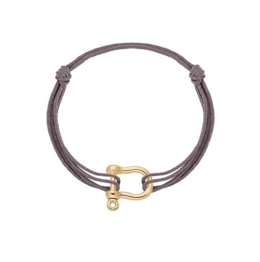 Tie bracelet with shackle for men