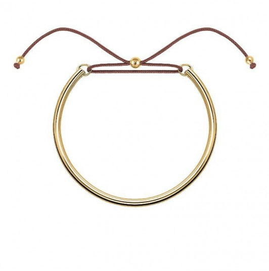 Thick tie bangle bracelet