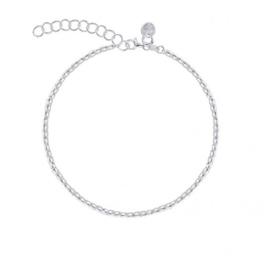 925 Silver faceted beads bracelet