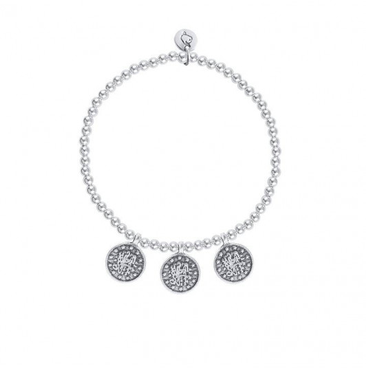 Beads and oriental medals bracelet