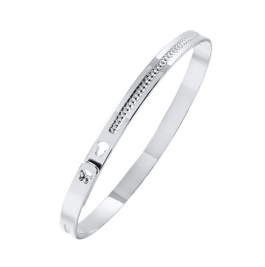 Centered dotted line lock bangle