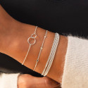 Chain bracelet with two thin rings