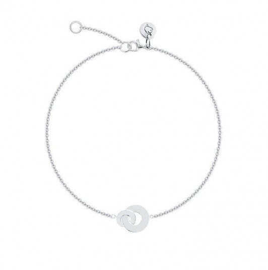 Entwined rings chain bracelet