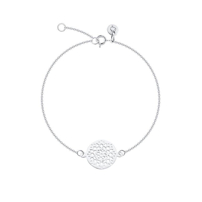Chain bracelet with flowers arabesque