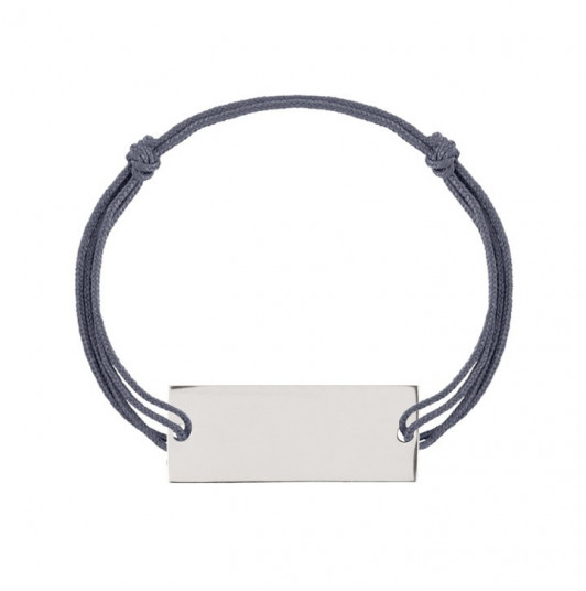 Men tie bracelet with rectangle