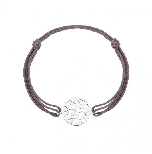 Tie bracelet with tree of life for men