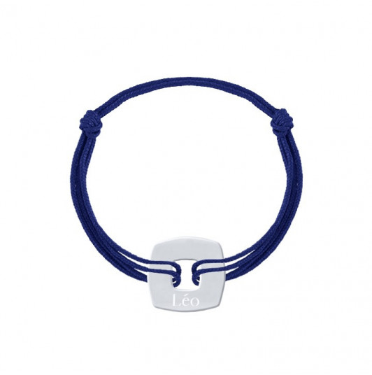 Tie bracelet with squared target for men