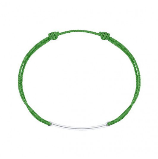 Tie bracelet with curved tube for men
