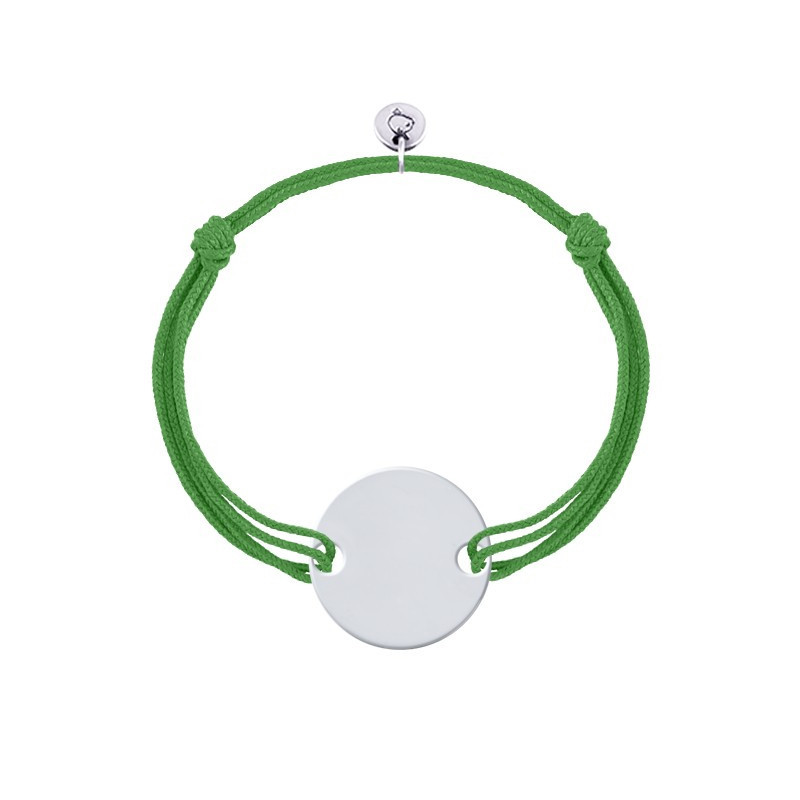 Double tie bracelet with customizable medal