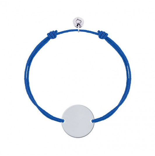 Tie bracelet with customizable medal