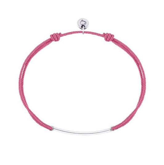 Tie bracelet with curved tube