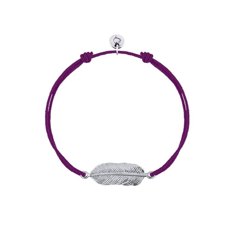 Tie bracelet with feather