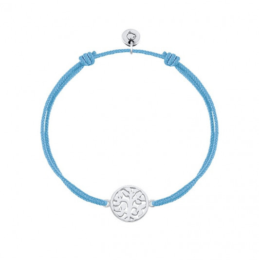 Tie bracelet with small tree of life