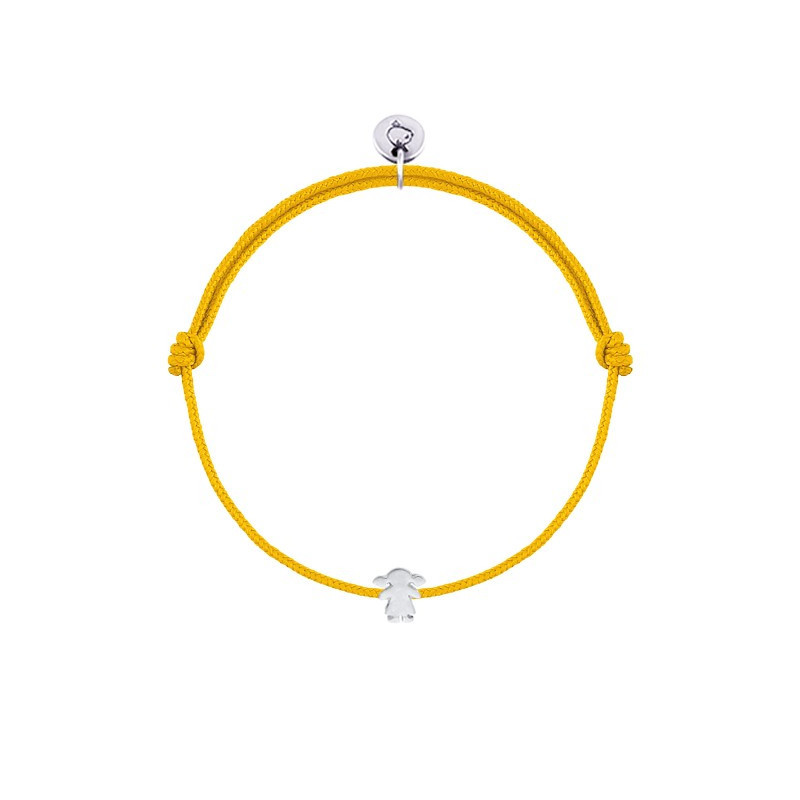 Tie bracelet with small girl silhouette