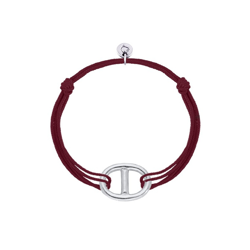 Tie bracelet with large marine link