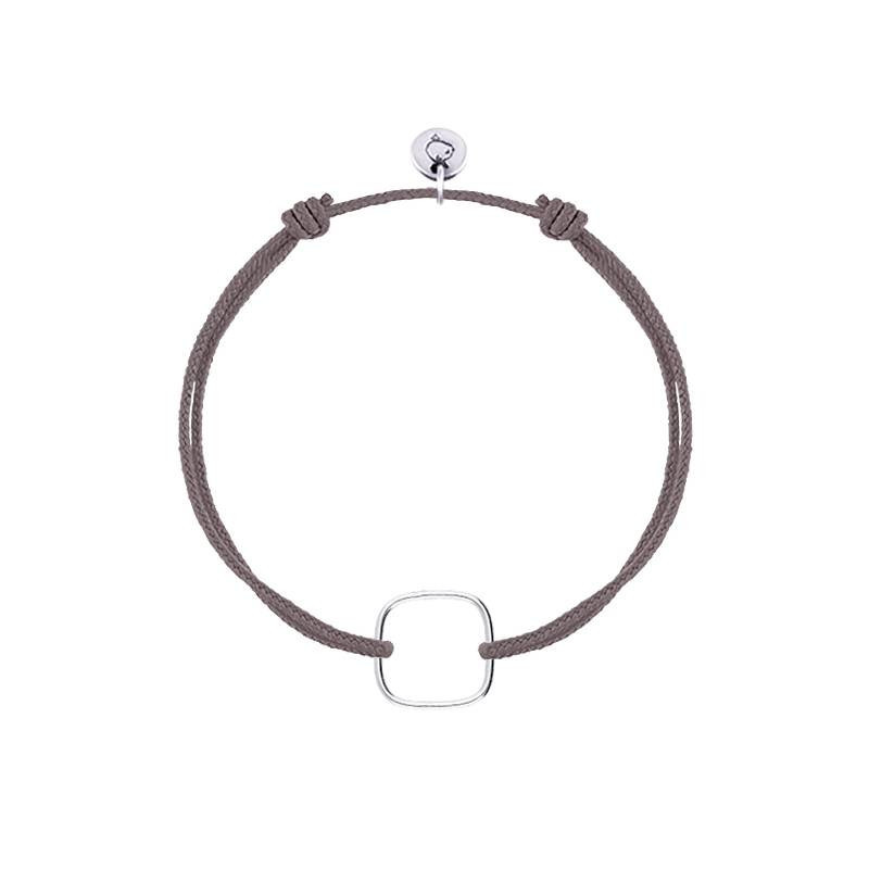 925 silver tie bracelet with hollowed square