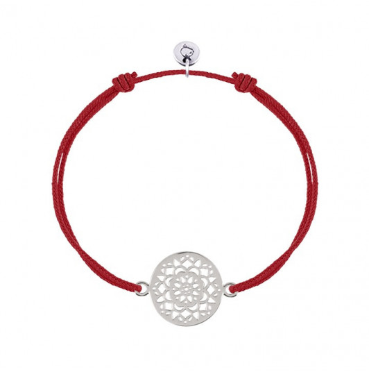 Tie bracelet flower arabesque