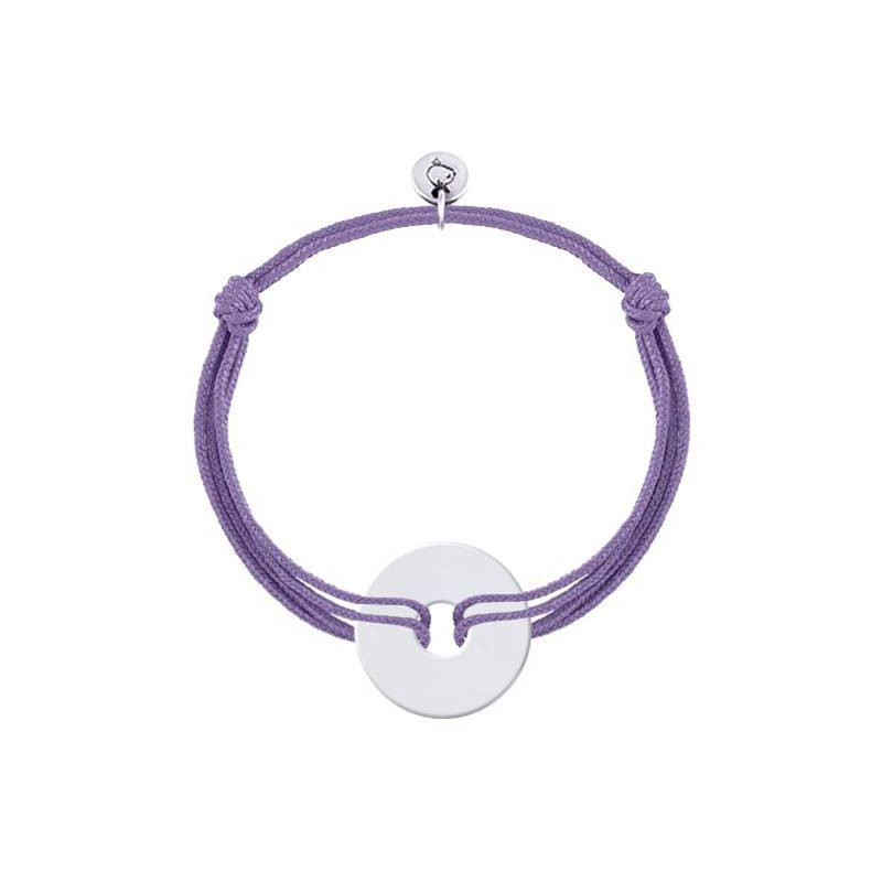 Tie bracelet with small target medal for children