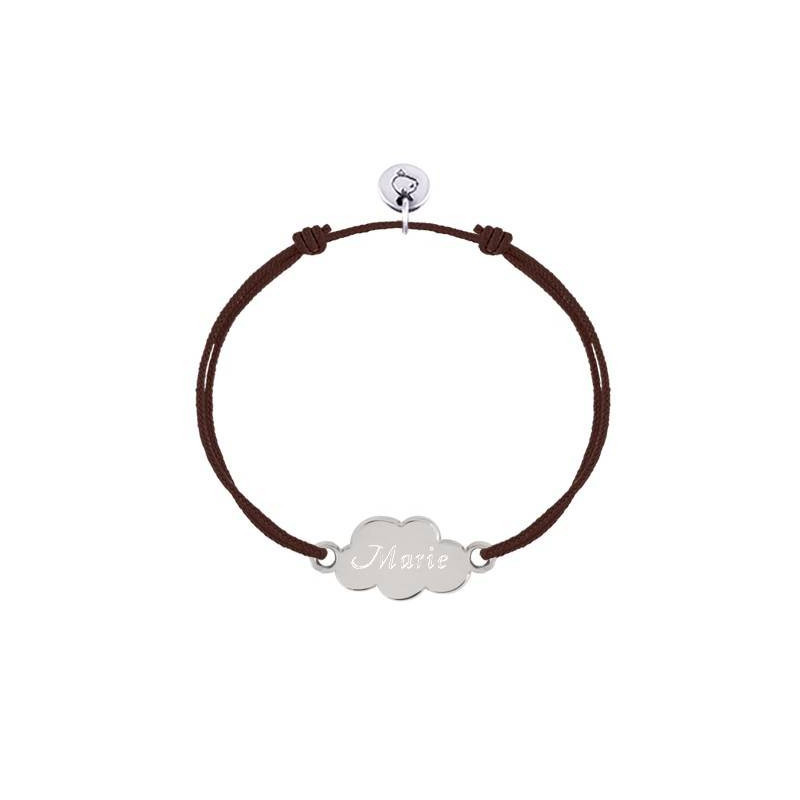 Tie bracelet with small cloud for children