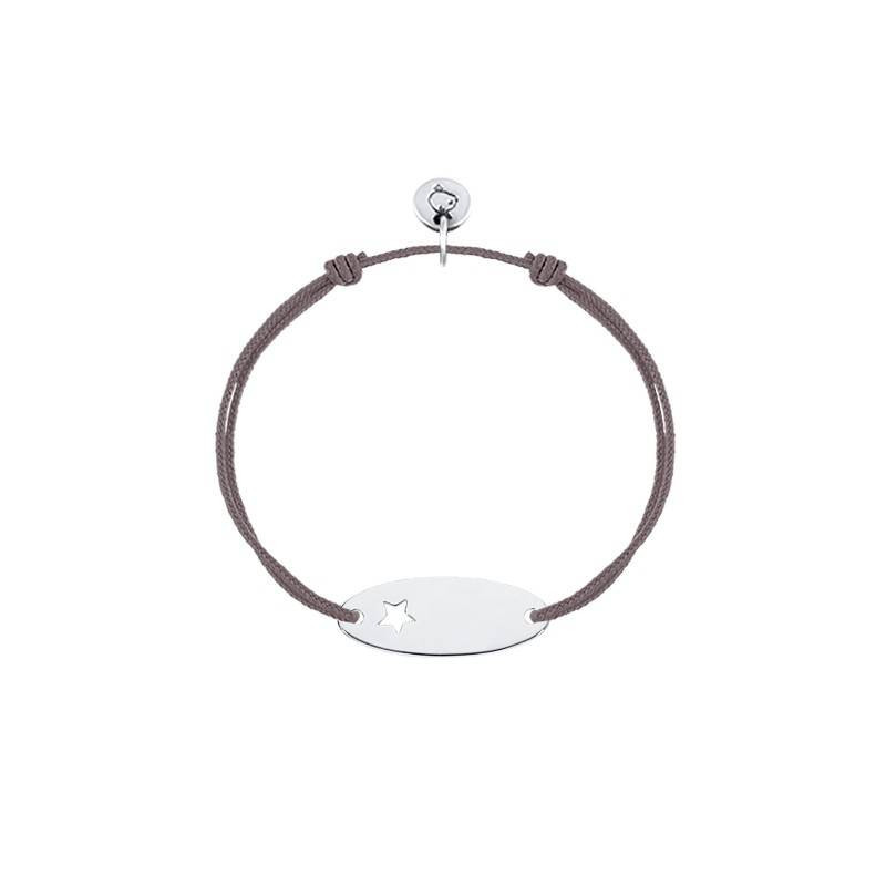 Tie bracelet with perforated star plaque