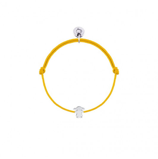 Tie bracelet with small girl silhouette for children