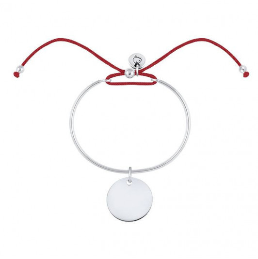 Tie bangle bracelet with medal for children