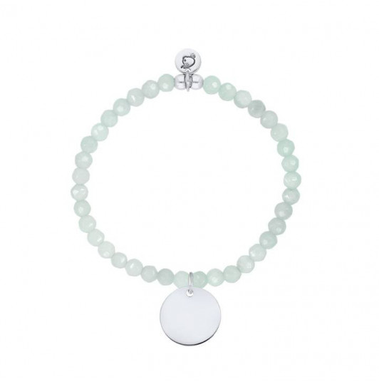 Medal and amazonite beads bracelet