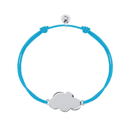 Tie bracelet with large cloud