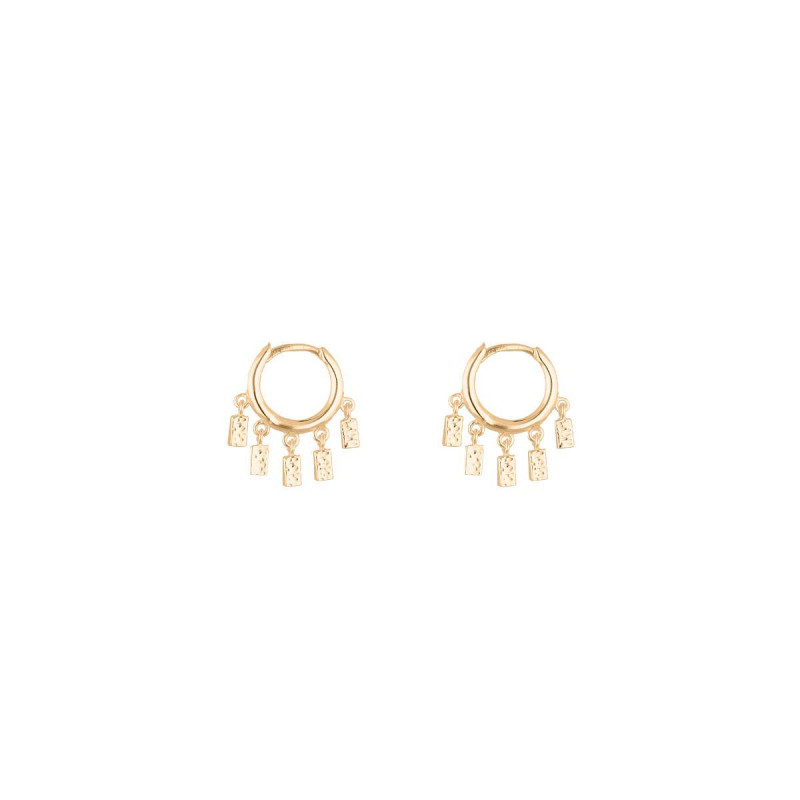 Gold-plated Anka earrings