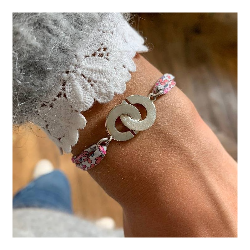 Liberty bracelet with 925 silver handcuffs