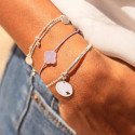 925 Silver parma and star bracelet set