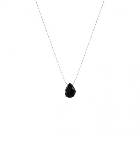 Spinel drop necklace