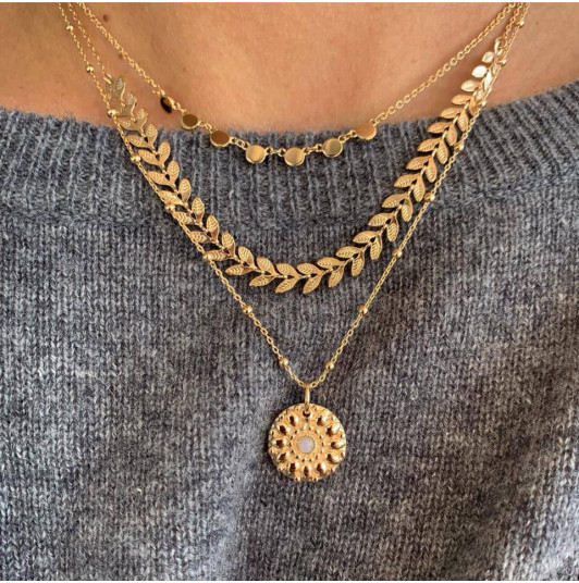 Gold-plated Capucine necklace trio