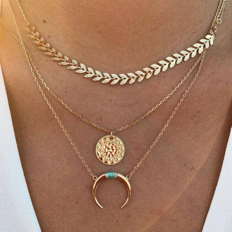 Gold-plated Phebus necklaces combination