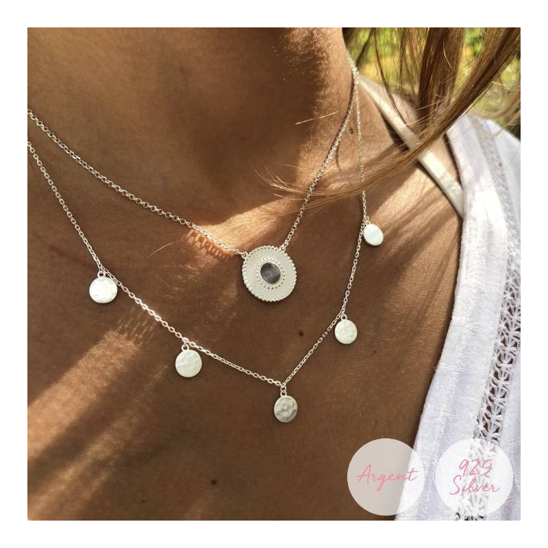 Rose gold-plated Hyana necklace