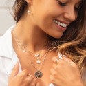 Rose gold-plated Arielle chain necklace