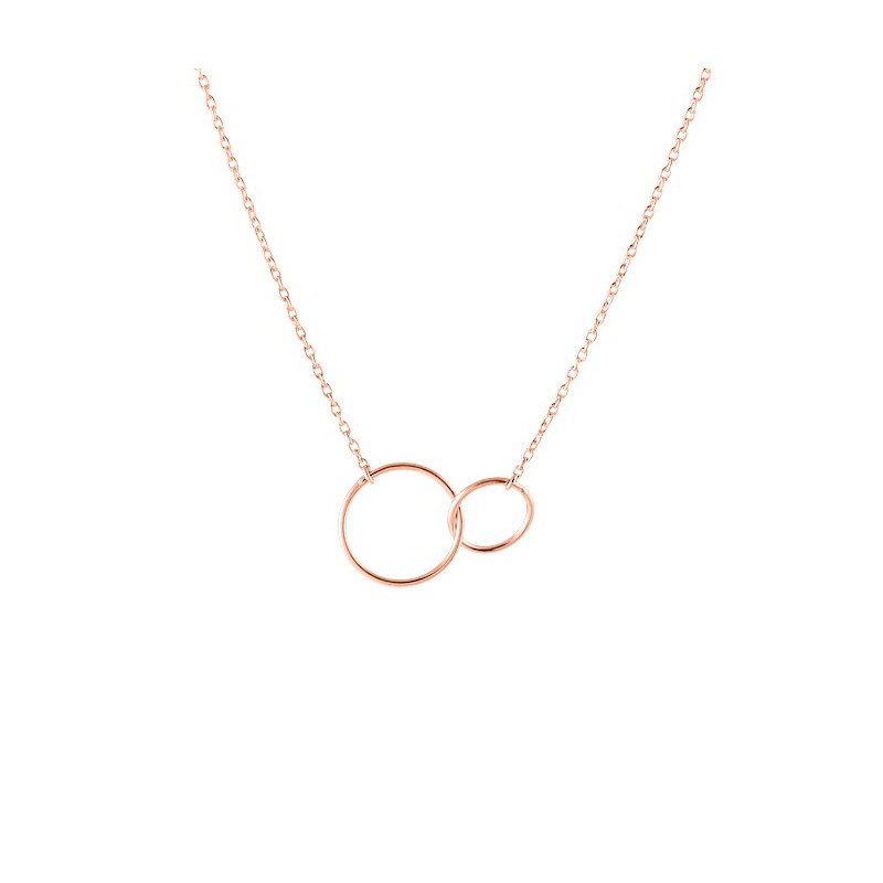 Chain necklace with thin double rings