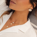 Gold-plated chain necklace & white nacre clover