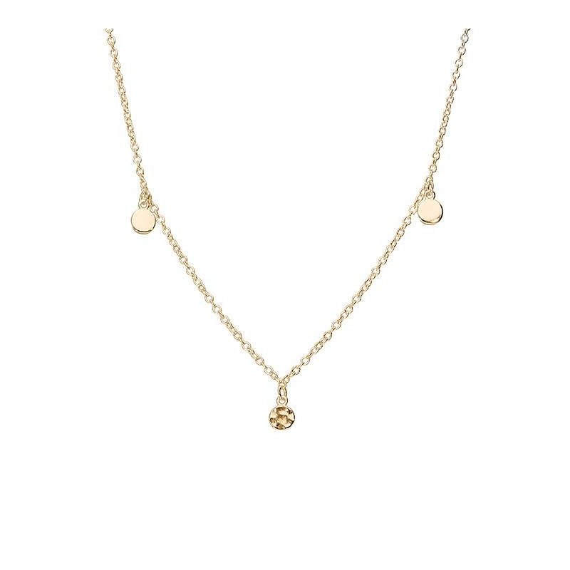 Rose gold-plated 3-medal chain necklace