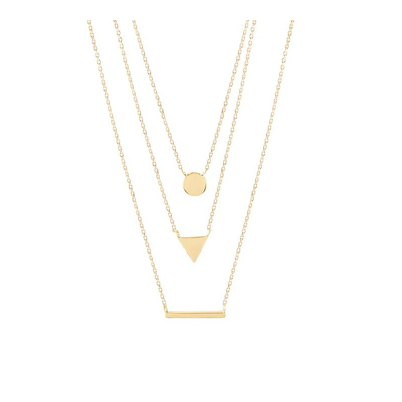 Three ranks necklace with medal, triangle and row
