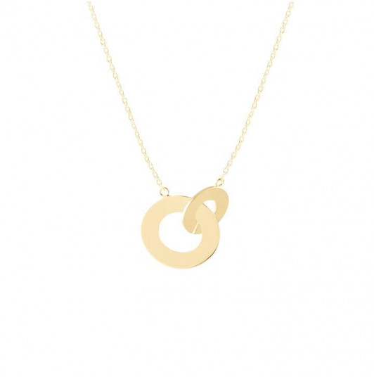 Interlaced rings chain necklace
