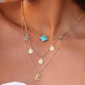 Chain necklace with agate clover