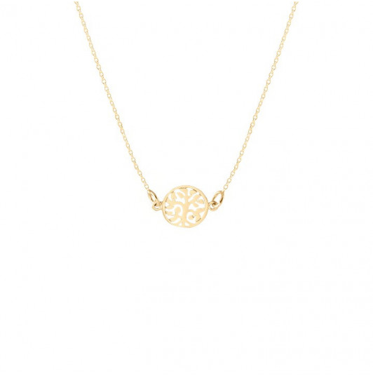 Small tree of life chain necklace