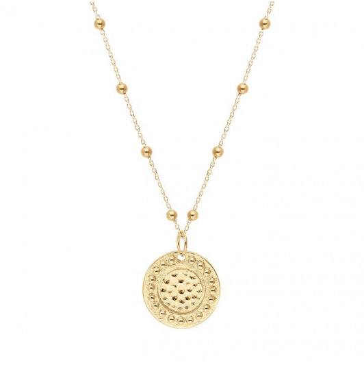 Gaïa medal beaded chain necklace