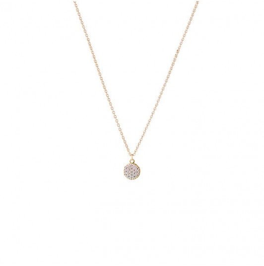 Zircons medal chain necklace