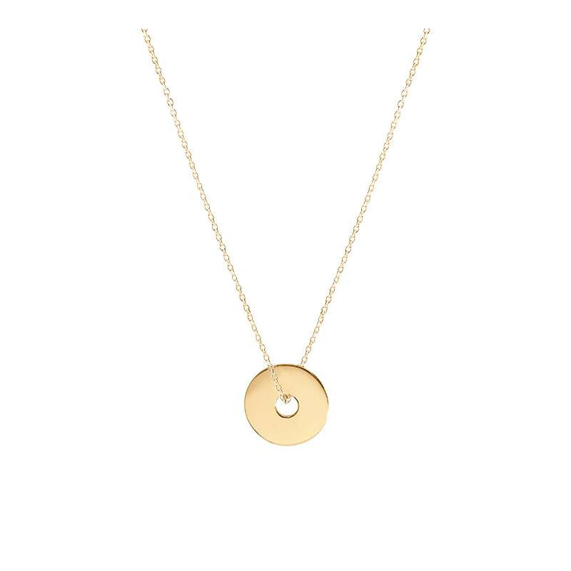 Chain necklace with small target