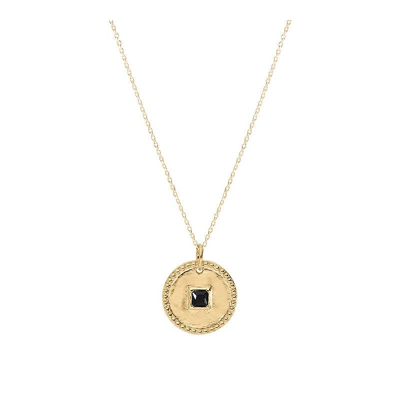 Gold-plated Priam medal chain necklace