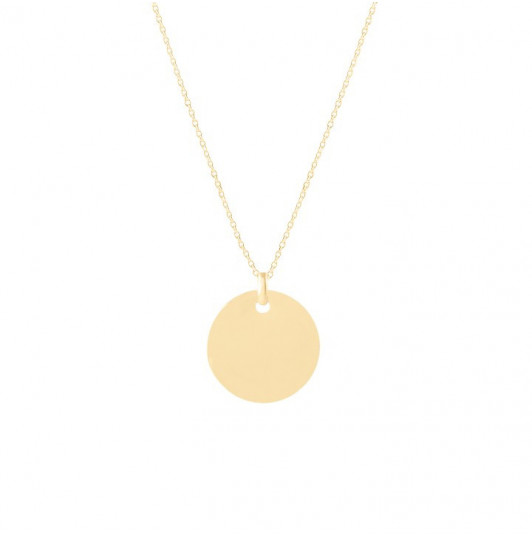 Flat medal chain necklace for children