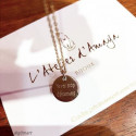 Flat medal chain necklace